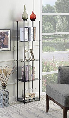 Convenience Concepts 157010BL Designs2Go Glass Tower Black