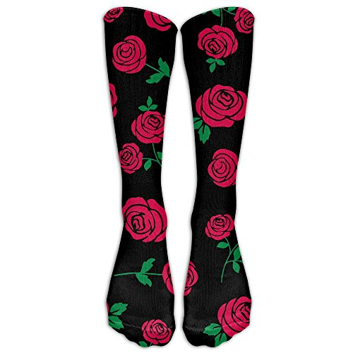 (UYILP Men Novelty Red Rose Classic Over The Calf Sock Athletic Crew Stocking Unisex)