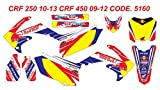 5160 HONDA CRF 250 10-13 CRF 450 09-12 DECALS STICKERS GRAPHICS KIT