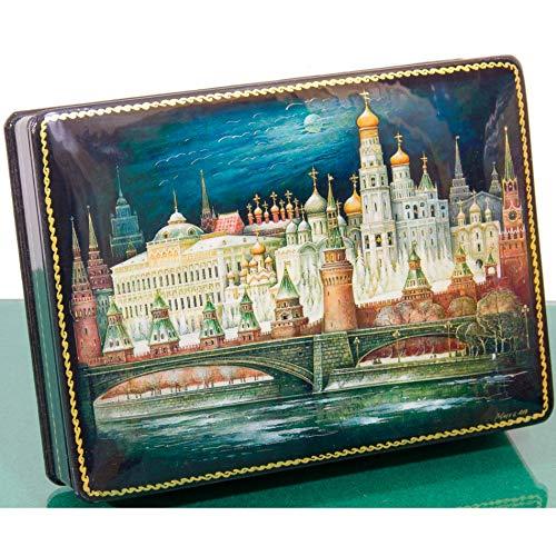 Russian Lacquer Miniature - Jewelry Trinket Box Russian Lacquer Box