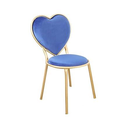Charmant Heart Shaped Chair, Creative Iron Dining Chair Nail Shop Chairs Coffee Shop  Leisure Chair