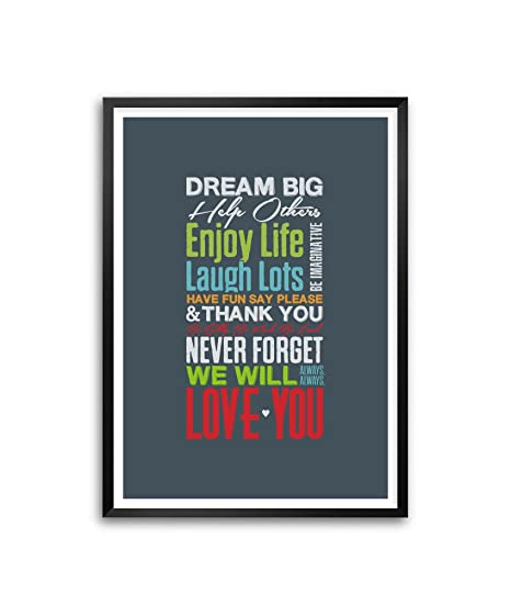 lab no dream big help other enjoy life laugh lots love for