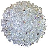 3 mm fire polished crystals - Bulk Super Saver: 600 pcs Czech Fire-Polished Round Glass Beads (3mm, Crystal AB)