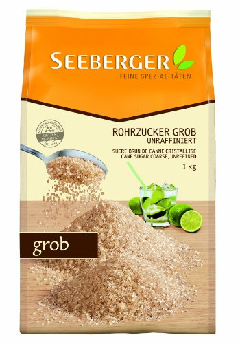 Seeberger Rohrzucker grob, unraffiniert, 10er Pack (10x 1 kg Packung)