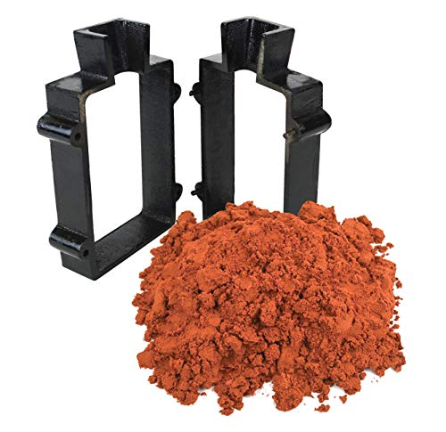 Sand Casting Set with 5 Lbs Petrobond Quick Cast Sand Casting Clay and Cast Iron Mold Flask Frame Melt Pour Metals ()