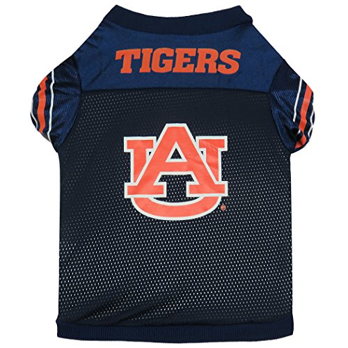 Sporty K9 Collegiate Auburn Tigers Football Dog Jersey, X-Small