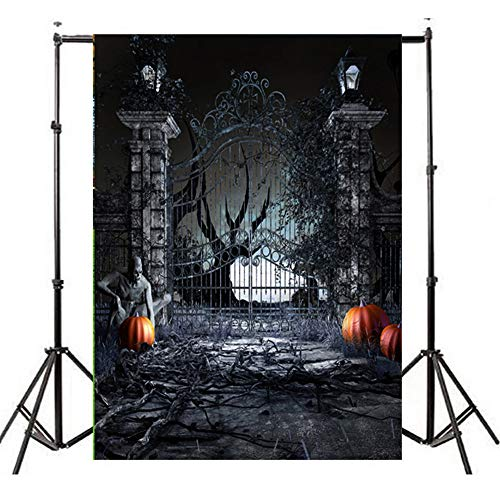 YOcheerful Halloween Backdrops Pumpkin Lantern Background Photography Studio -