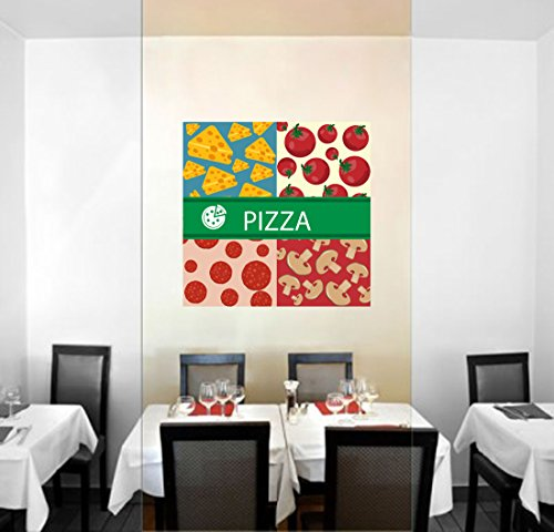 StickersForLife cik572 Full Color Wall Decal Pizza Ingredients Cheese Tomatoes Pizza Restaurant - Ingredients Cheese Pizza
