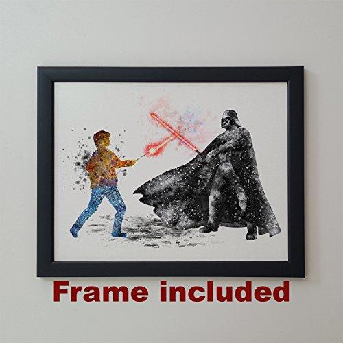 Star Wars Harry Potter vs Darth Vader 11 x 14 inches Framed -
