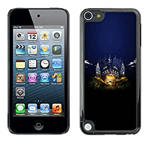 TopCaseStore / Snap On Hard Back Shell Rubber Case Protection Skin Cover - Castle - Apple iPod Touch 5