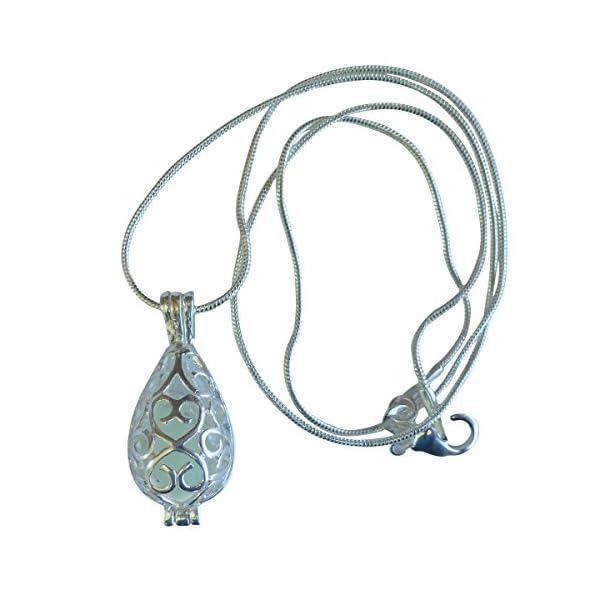 UMBRELLALABORATORY Wishing Teardrop Fairy Magical Fairy Glow in The Dark Necklace-Aqua-SIL 4