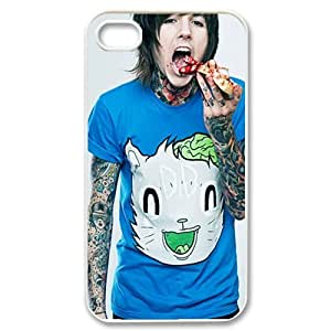 Oliver Sykes Bring Me the Horizon Hard Case Cover Skin for Apple iPhone 4/4s- 1 Pack - Black/White - 3- Perfect Gift for Christmas