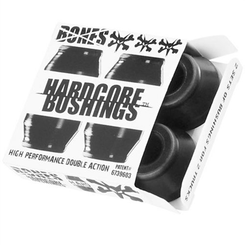 Bones Hardcore 4pc Hard Black Black Bushings Skateboard ()
