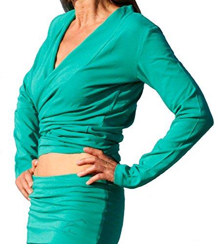 Esparto Dhaara - Camisa de yoga para mujer, talla XS - XL verde - Smaragdgruen