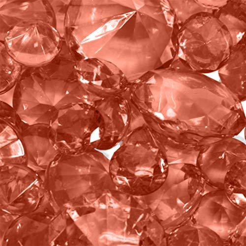 Koyal Wholesale 424291 Centerpiece Vase Filler Acrylic Diamonds, Coral (Vase Filler Coral)