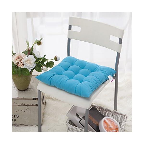 Worsendy Cuscino Sedia, Cuscini per Giardino, per Dentro e/o Fuori,40x40 cm,Disponibile in Tanti Colori Diversi,Cuscini… 5 spesavip
