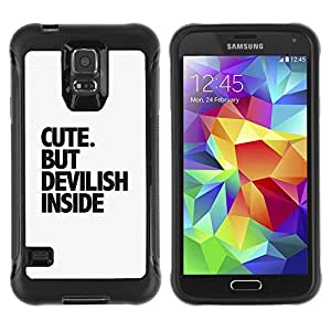 Hybrid Anti-Shock Defend Case for Samsung Galaxy S5 / Cute Message