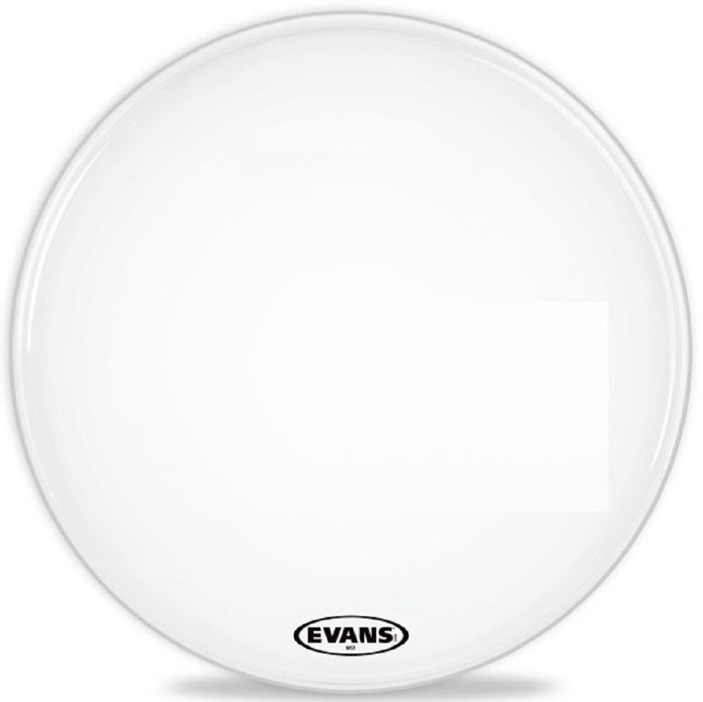 Evans MS1 White Marching Bass Drum Head, 16 Inch Evans Heads BD16MS1W