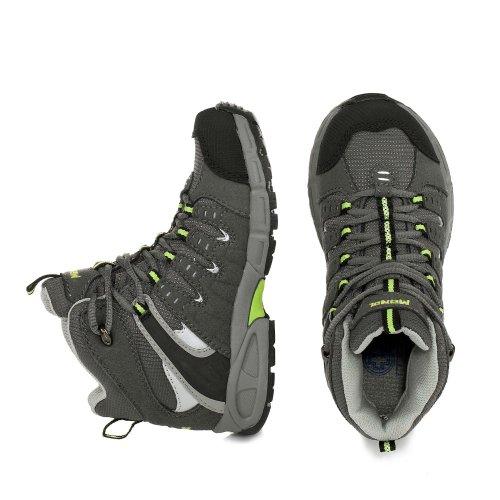 Meindl Snap Junior Mid 680165 - Zapatillas de deporte de cuero para niños Gris