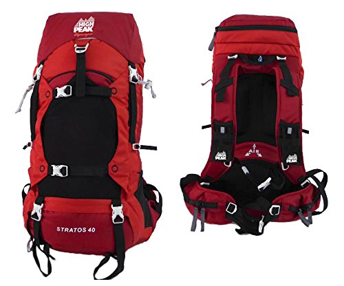 Amazon.com : Alpinizmo High Peak USA Stratos 40 Internal Frame Hiking Pack, Red, One Size : Sports & Outdoors