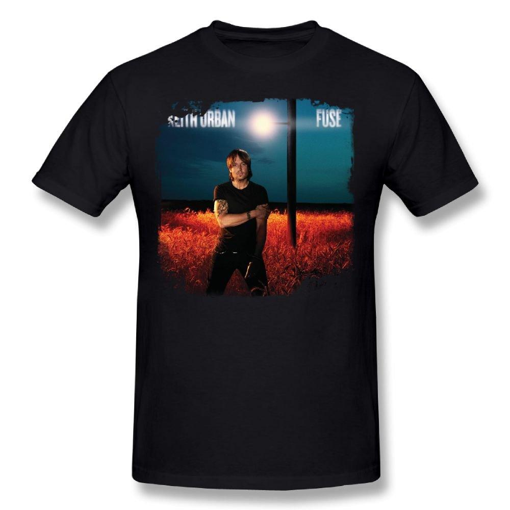 Stylish Short Sleeves Keith Urban Fuse Black Shirts