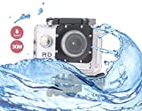 i-TecoSky 1080P Full HD Action Camera Sport Camera Sports Cam SJ4000 30M Waterproof Outdoor Mini Helmet Action Camera Diving Recorder Sports Action Camera Cam Camcorder DVR DV (silver)