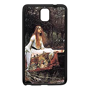 The Lady of Shalott by John William Waterhouse Black Silicon Rubber Case for Galaxy Note 3 by Painting Masterpieces + FREE Crystal Clear Screen Protector