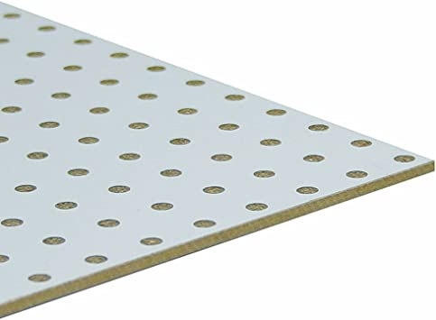 Mobelbauplatte Hdf Lochplatte Leimholz Einseitig Weiss 860 X 500 X 3 Mm Amazon De Baumarkt