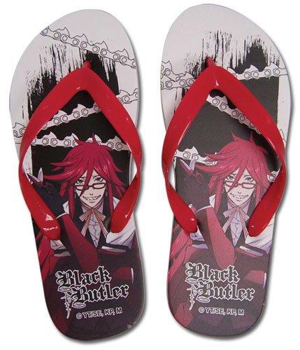 Black Butler Grell Flip Flop Sandals