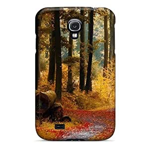 Galaxy S4 Case Cover Autumn Forest Trail Case - Eco-friendly Packaging