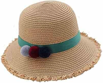 ace13e78 Teng Peng- Sun hat, Summer, Children Straw hat Girl, Outdoor Sun Protection