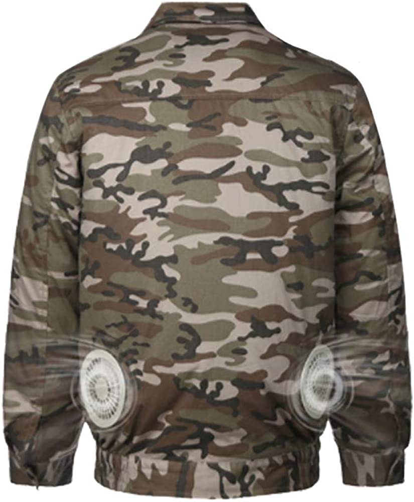 HomeYoo Cooling Jacket Fan,Air Conditioned Clothes for High Temp Worker Unisex