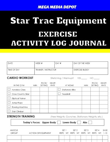 Equipment Trac Star - Star Trac Equipment Exercise Activity Log Journal