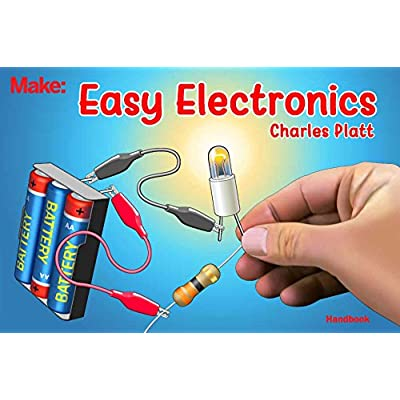 ProTechTrader Make: Easy Electronics Kit Bundle - Includes Paperback Handbook by Charles Platt and Electronic Components Pack STEM Educational DIY: Toys & Games