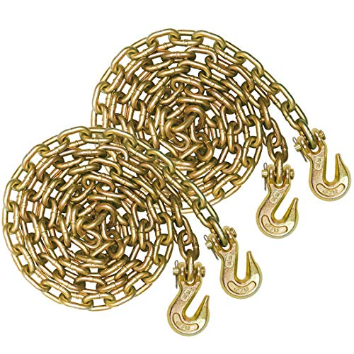 Vulcan Grade 70 3/8'' x 10' Safety/Binder Chain with Clevis Grab Hooks - 6,600 lbs. Safe Working Load ()
