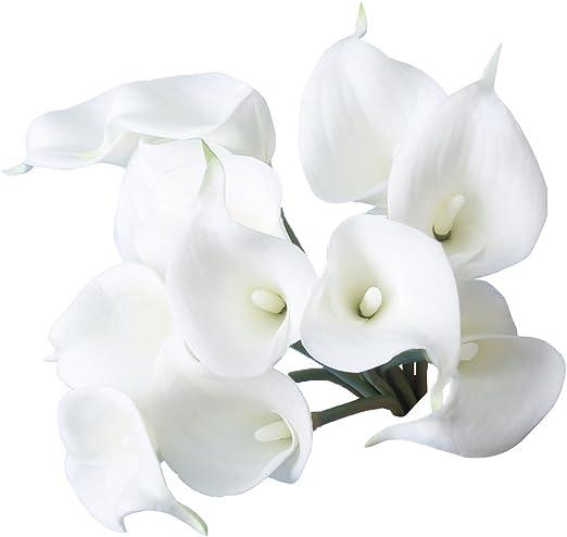 """Floristería Blanco Brillo Estrellas en 7/"""" floristería alambre Paquete de 12"""