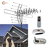 Esky HDTV Amplified Antenna by 2 TV Support Outdoor TV Antenna with 150 Mile Range Remote Controller