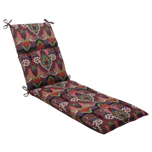 Pillow Perfect Indoor/Outdoor Marapi Chaise Lounge Cushion, Black