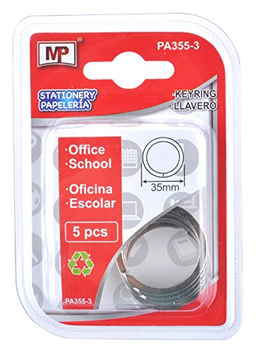 Amazon.com : MP PA355 - 3 Pack of 5 Keyring, 35 mm : Office ...