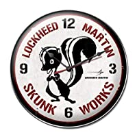 Past Time Signs LM012 Skunk Works Aviation Clock