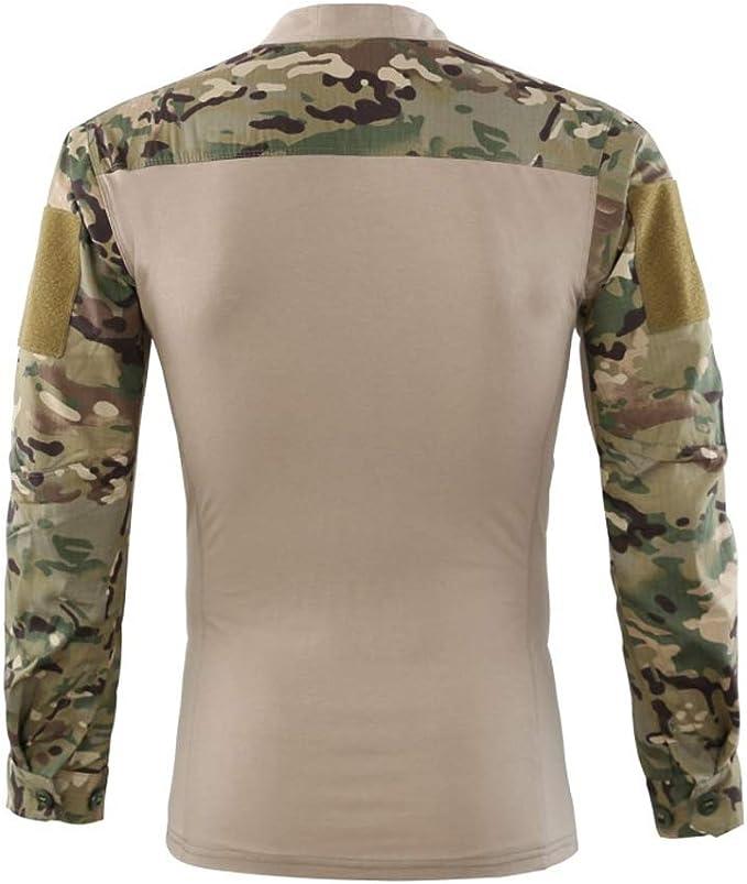 Specter Hombres Táctico Camiseta Militar Airsoft Combate Camisa Largo Manga Secado Rápido Algodón con puños Ajustables: Amazon.es: Deportes y aire libre