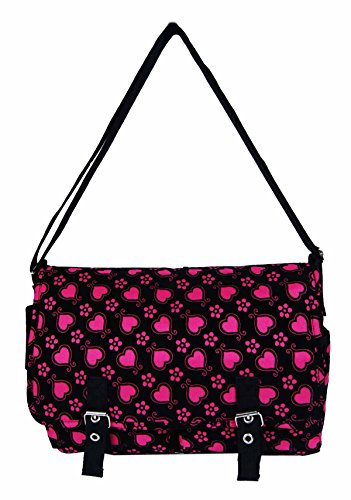 Pour Moi Suede Heart Pattern Satchel Messenger Bag