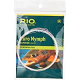 RIO European Nymph Trout Leader With Tippet Ring Fly Fishing High-Viz Two-Tone