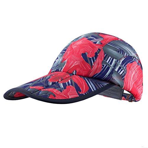 Camo Hat,Outdoor Cap,UPF50+ Protect Camouflage Hat Sun Hat Adjustable Unisex Lightweight Foldable Sports Cap Pocket Cap Fishing Hat Youth Hat Portable Baseball Cap for Men Women Red Dark Blue MF87