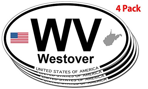Westover, West Virginia Oval Sticker - 4 - Westover Virginia West
