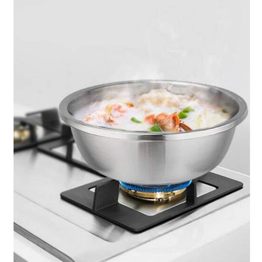 LOVIVER Grand Bol De Salade De Bols /à M/élanger /à Base Plate Large Large en Acier Inoxydable 18cm