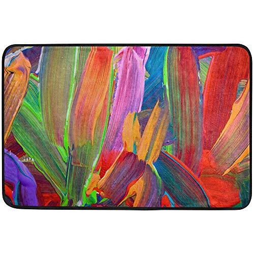Starowas Abstract Art Background Doormat,Hand Painted Door mat Area Rug for Bedroom Front Door Kitchen Indoors Home Decors 23.6x15.7 inches ()