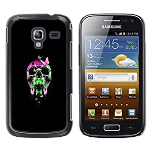 LECELL--Funda protectora / Cubierta / Piel For Samsung Galaxy Ace 2 -- Neon pop del cráneo del cromo --