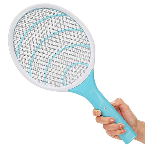 Electronic Fly Swatter 3000 Volt Mosquito Killer Bee Bugs Zapper Racket Pests Insects Control Fly Killer for Indoor…