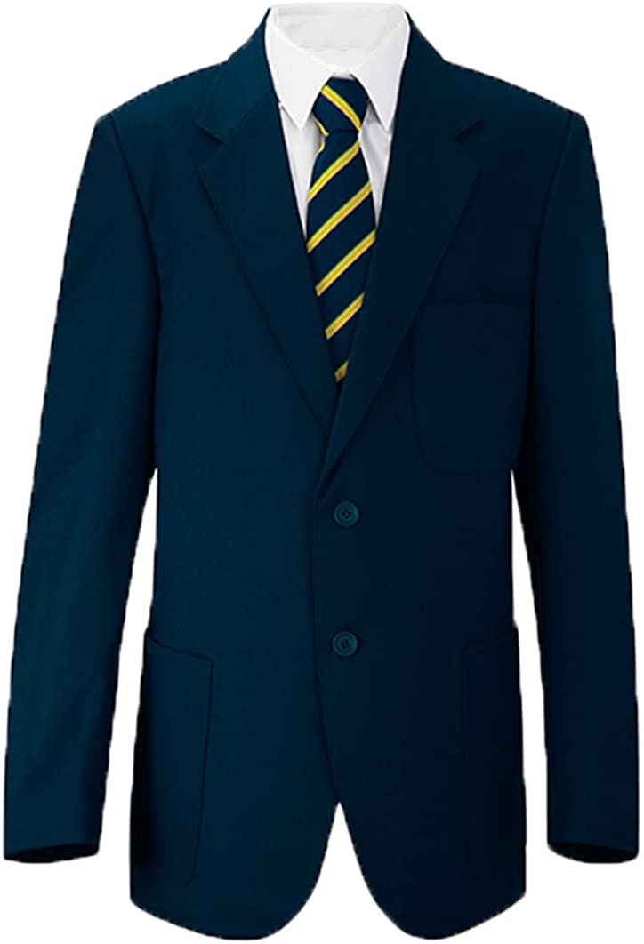 Chest Sizes 24-52 Russell Boys//Mens School//Formal Blazer Jacket Uniform Black Royal Blue Navy Bottle Green Burgundy//Maroon